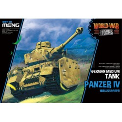 GERMAN MEDIUM TANK PANZER IV. Serie world war toons. Marca Meng. Ref: WWT-013.