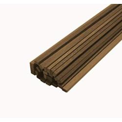 Listones madera Nogal 1 x 1 x 1000 mm. Paquete de 10 unidades. Marca Amati. Ref: 225011.