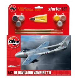 De Havilland Vampire TII. Escala 1:72. Marca Airfix. Ref: A55204.