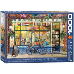 The Greatest Bookstore in the World, Favorite Pastimes. Puzzle horizontal, 1000 pz. Marca Eurographics. Ref: 6000-5351.