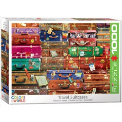 Travel Suitcases, Colors of the World. Puzzle horizontal, 1000 pz. Marca Eurographics. Ref: 6000-5468.