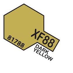 Flat Dark yellow 2, amarillo oscuro 2 Mate (81788). Bote 10 ml. Marca Tamiya. Ref: XF-88.