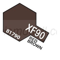 Flat Red brown 2, Marron rojizo 2 Mate (81790). Bote 10 ml. Marca Tamiya. Ref: XF-90.