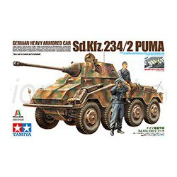German Heavy Armored Car Sd.Kfz.234/2 Puma. Escala 1:35. Marca Tamiya. Ref: 37018.