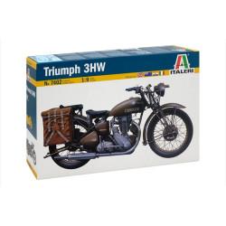 Moto TRIUMPH 3HW. Escala 1:9. Marca Italeri. Ref: 7402.