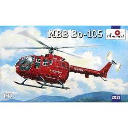 MBB Bo-105. Escala 1:72. Marca Amodel. Ref: 72255.