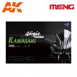 Kawasaki Ninja H2R (Pre-colored Edition). Escala 1:9. Marca Meng. Ref: MT-001S.