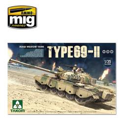Tanque Medio Iraquí Type-69 II 2 en 1. Escala 1:35. Marca Takom. Ref: 2054.