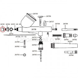 Boquilla Exterior para aerógrafo D-102. Marca Dismoer. Ref: 26745.