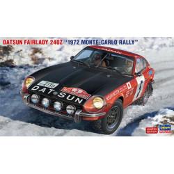 """DATSUN FAIRLADY 240Z """"1972 MONTE-CARLO RALLY"""". Escala 1:24. Marca Hasegawa. Ref: 20374."""