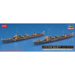 "JAPANESE NAVY DESTROYER MOMI & WAKATAKE ""HYPER DETAIL"" (2 kits in the box). Escala: 1:700. Marca: Hasegawa. Ref: 30058."