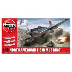 Caza North American F-51D Mustang. 3 Versiones. Escala 1:48. Marca Airfix. Ref: A05136.