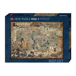 Pirate world. Puzzle horizontal, 2000 pz. Marca Heye. Ref: 29847.