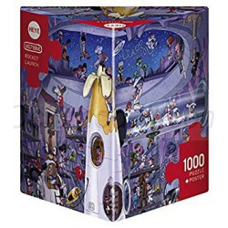 Rocket Launch. Puzzle vertical, 1000 pz. Marca Heye. Ref: 29790.