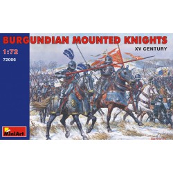 Figuras del siglo XV, Caballeros montados de Burdeos. Escala 1:72. Marca Miniart. Ref: 72006.