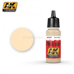 Acrílico Pale sand. Bote 17 ml. Marca Ak-Interactive. Ref: Ak3047.