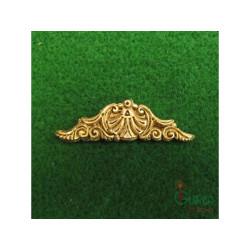 Decoración en metal, latón, Ornamento de popa 45 mm. 1 unidad. Marca Amati. Ref: 5362/03.