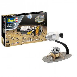 "Apollo 11 "" columbia & Eagle "" , 50 años de aterrizaje lunar. Escala 1:96. Marca revell. Ref: 03700."