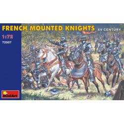 Figuras del siglo XV, Caballeros montados franceses. Escala 1:72. Marca Miniart. Ref: 72007.