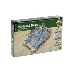 M3 / M3A1 Stuart, WWII. Escala 1:56. Marca Italeri. Ref: 15761.