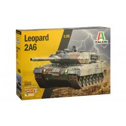 Leopard 2A6, contiene calcas españolas. Escala 1:35. Marca Italeri. Ref: 6567.