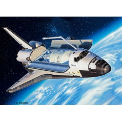 Space Shuttle Atlantis, 50 años de aterrizaje lunar. Escala 1:144. Marca revell. Ref: 04544.