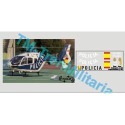 Calcas del helicóptero C-135, Policia Nacional. Escala 1:72. Marca Trenmilitaria. Ref: 000_4944.