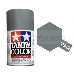 Spray Light gun metal (85042). Bote 100 ml. Marca Tamiya. Ref: TS-42.