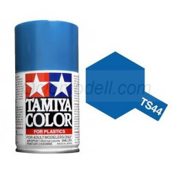 Spray Brilliant blue, Azul brillante (85044). Bote 100 ml. Marca Tamiya. Ref: TS-44.