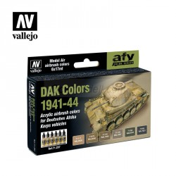 Set Model air DAK Colors 1941 - 1944. 6 Colores. Bote 17 ml. Marca Vallejo. Ref: 71207.
