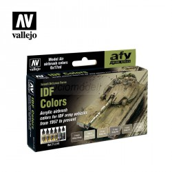 Set Model air, IDF Colors. 6 Colores. Bote 17 ml. Marca Vallejo. Ref: 71210.