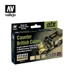 Set Model air, British Caunter Colors. 6 Colores. Bote 17 ml. Marca Vallejo. Ref: 71211.