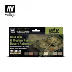 Set Model air, Cold War & Modern Russian desert Patterns. 8 Colores. Bote 17 ml. Marca Vallejo. Ref: 71620.