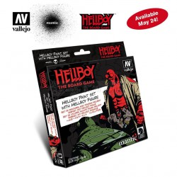 Set Model color, Hell Boy paint set. 8 Botes 17 ml + figura. Marca Vallejo. Ref: 70187.