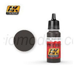 Acrílico Black uniform base. Bote 17 ml. Marca Ak-Interactive. Ref: Ak3002.