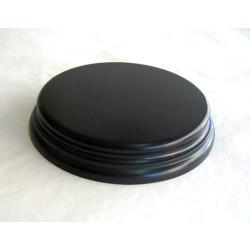 PEANA Redonda 22 mm Altura, parte superior 11 cm, Fabricada en MDF , lacado Negro. Marca Peanas.net. Ref: 8030N.