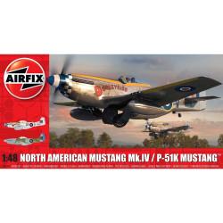 Caza North American MK IV / P-51K Mustang. Escala 1:48. Marca Airfix. Ref: A05137.