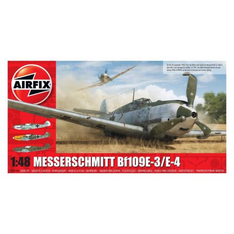 Caza Supermarine Spitfire Messerschmitt Bf109E-3/E-4. Escala 1:48. Marca Airfix. Ref: A50120B.