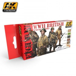 Set de colores WWII British uniform. Marca AK Interactive. Ref: AK3240.