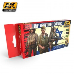 Set de colores, IDF UNIFORM COLORS. Marca AK Interactive. Ref: AK3230.