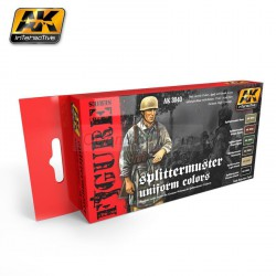 Set de colores, Splittermuster Uniform Colors. Marca AK Interactive. Ref: AK3040.