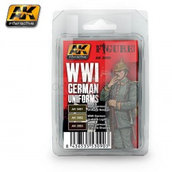 Set de colores, WWI German Uniforms. Marca AK Interactive. Ref: AK3090.