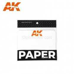 Recambio Paper, para paleta húmeda. 40 unidades. Marca AK Interactive. Ref: AK8074.