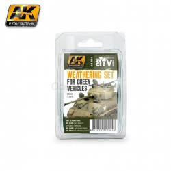 Weathering Set for Green Vehicles. Marca AK Interactive. Ref: AK064.
