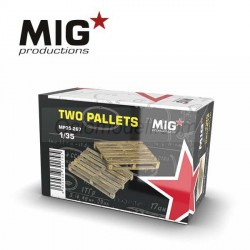 2 palets. Escala 1:35. Marca Mig productions. Ref: MP35-267.