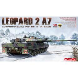 German Main Battle Tank Leopard 2 A7. Escala 1:35. Marca Meng. Ref: TS-027.