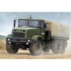 """Ukraine KrAZ-6322 """"Soldier"""" Cargo Truck. Escala 1:35. Marca Hobby Boss. Ref: 85512."""
