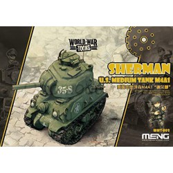 U.S. Medium tank M4A1 Sherman. Serie world war toons. Marca Meng. Ref: WWT-002.