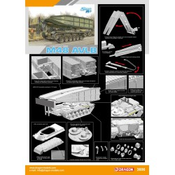 M48 AVLB Armored vehicle Launched Bridge. Escala 1:35. Marca Dragon. Ref: 3606.
