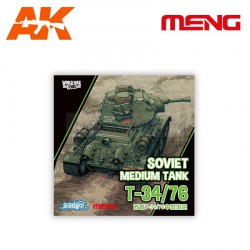 T-34/76 Soviet Medium Tank. Serie world war toons. Marca Meng. Ref: WWT-006.